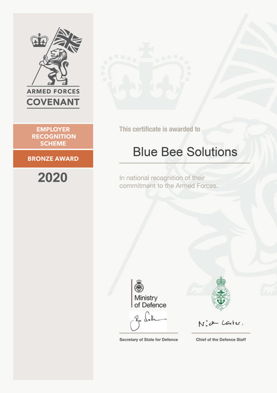 Blue Bee Solutions - Bronze Certificate