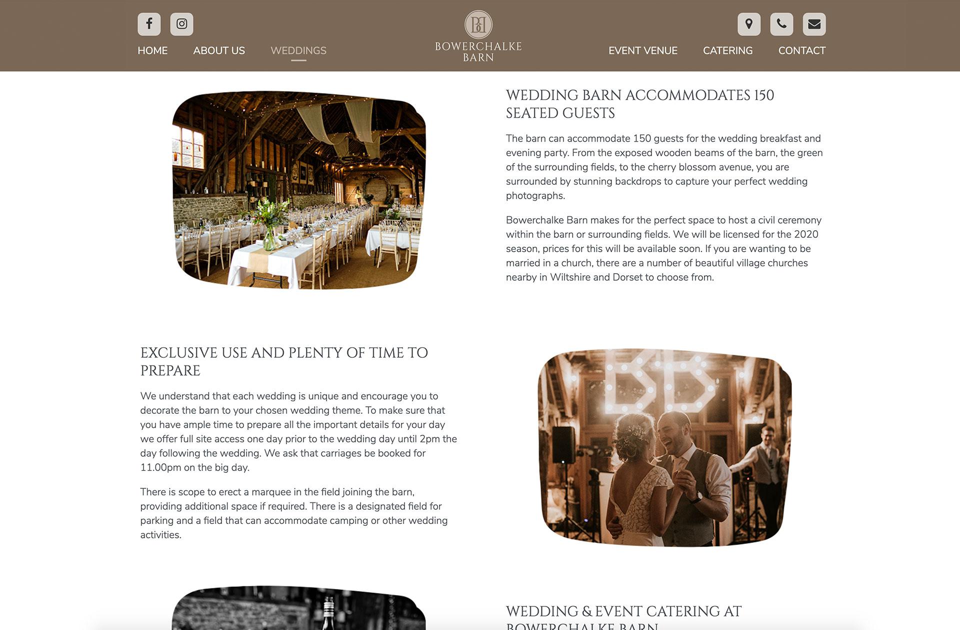 Bowerchalke Barn content columns