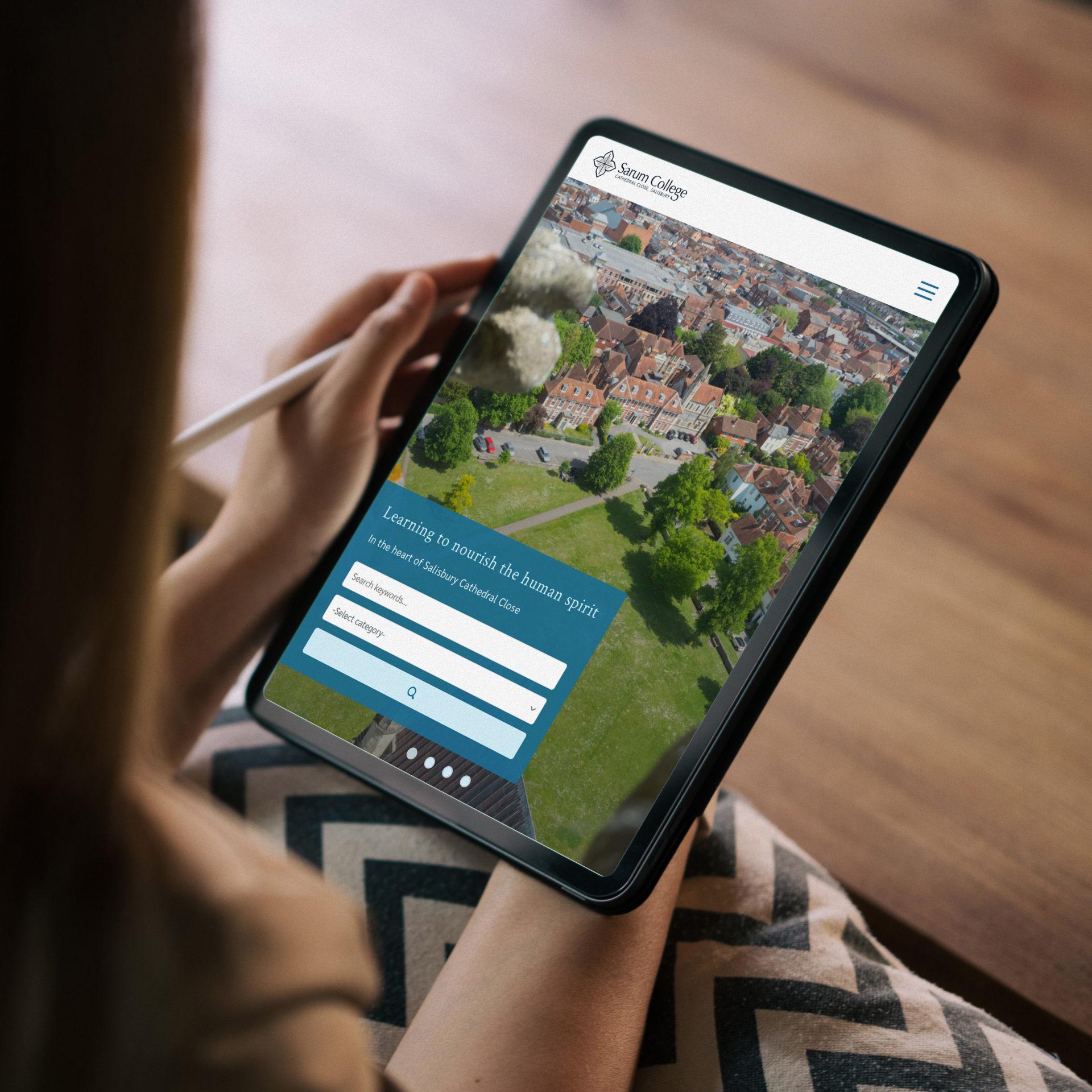 Sarum College new work website design