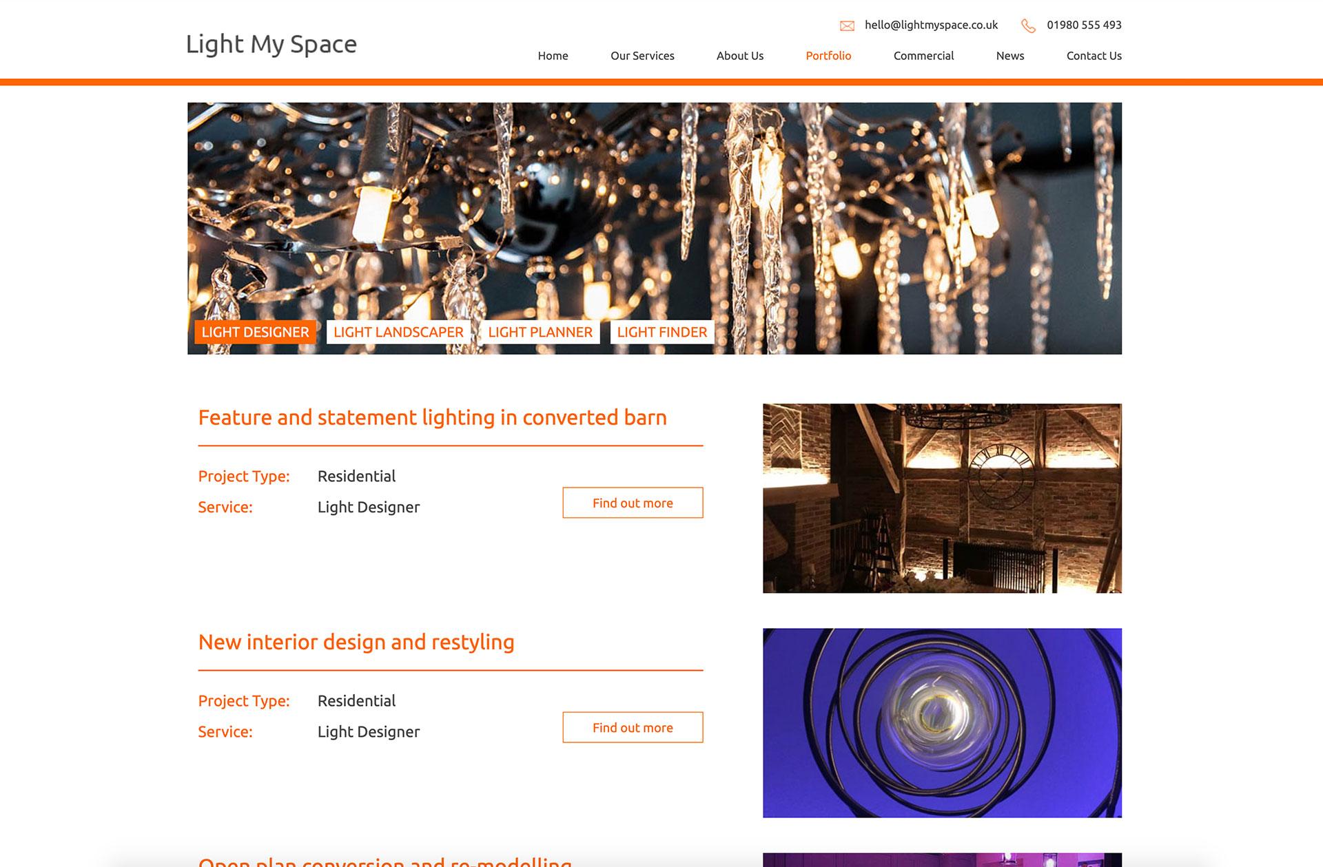 Light my space website