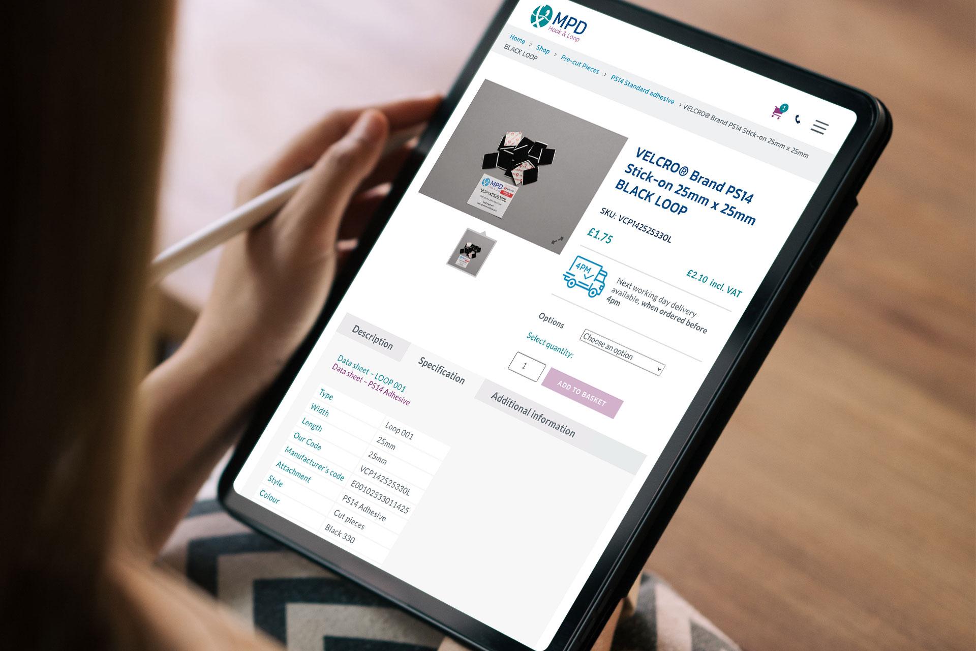MPD website design
