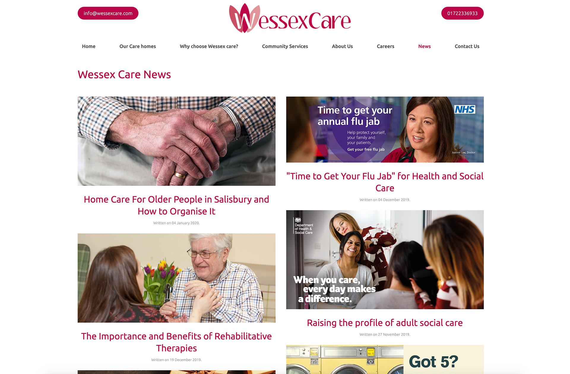 Wessex Care website