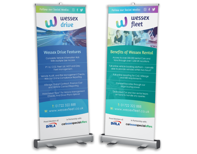 Wessex Fleet roller banners