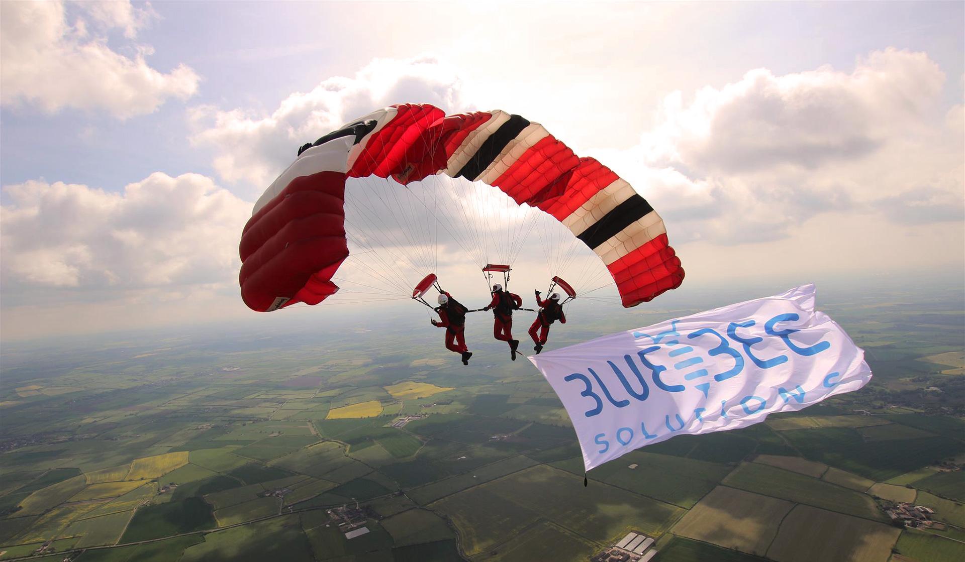 Blue Bee parachute jump