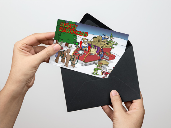 Cartoon Christmas card