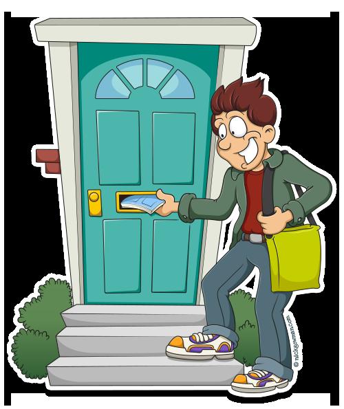 Cartoon Image Delivery Boy