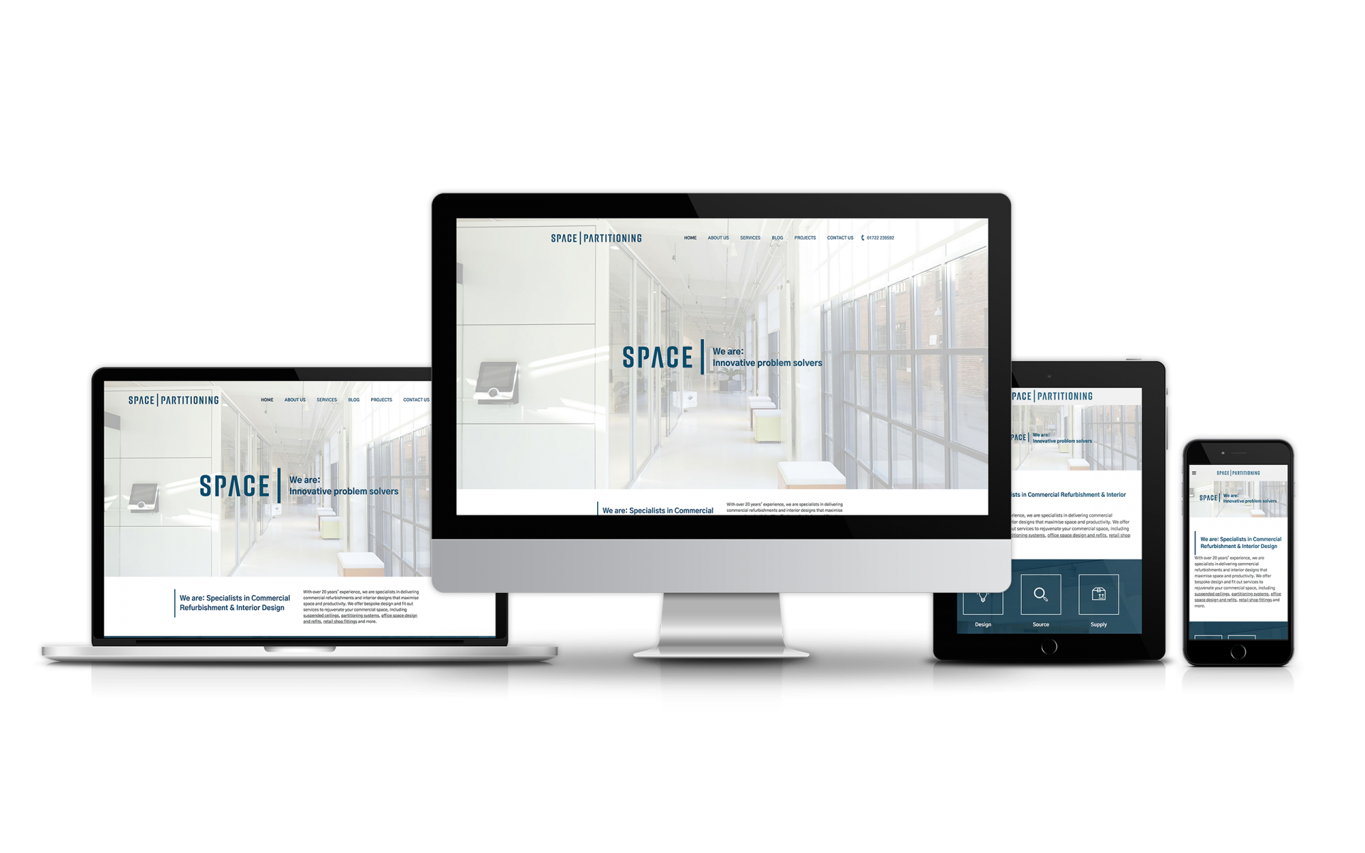 Website Design for Space Partitioning