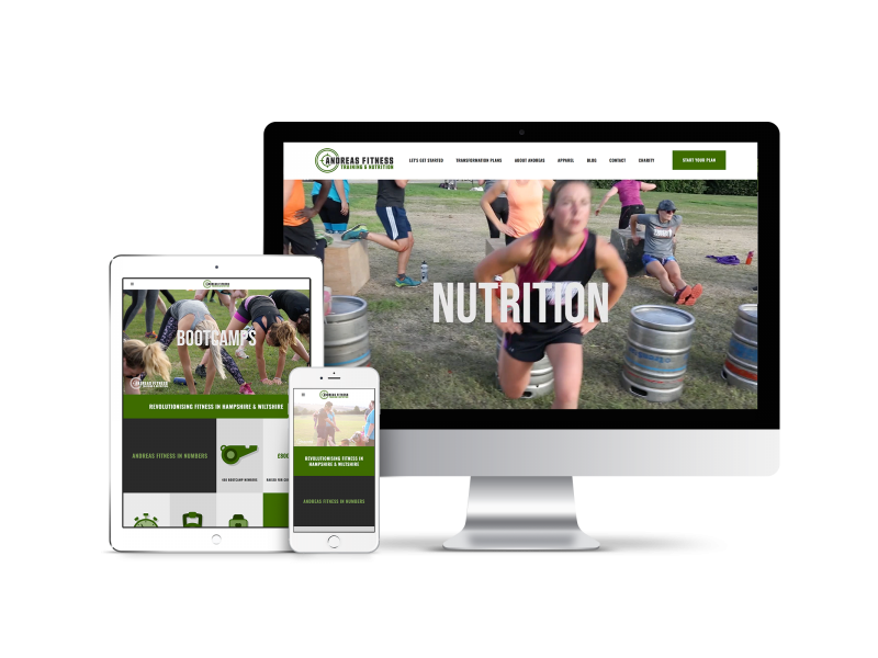 Website Design for Andreas Fitness