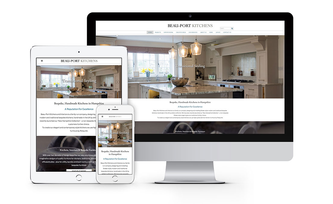 Website Design for Beau-Port Kitchens in Hampshire