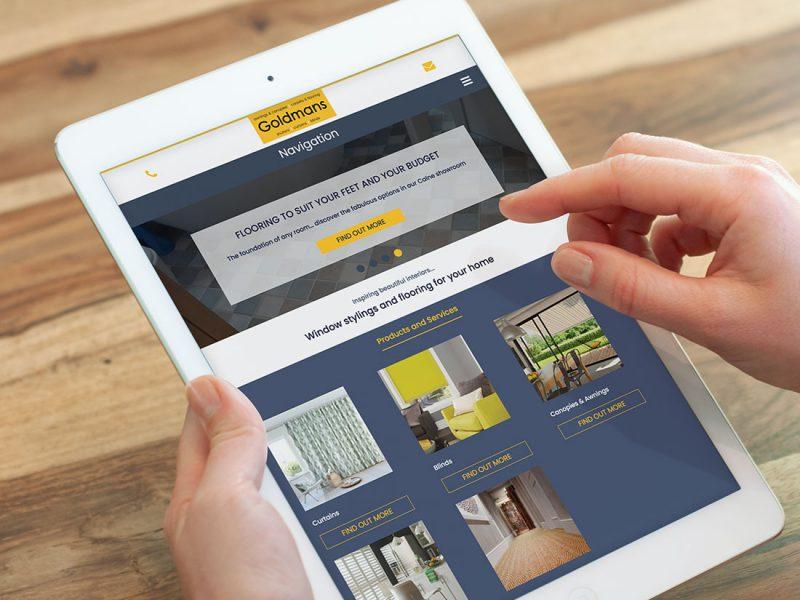 Website design for Goldmans Interiors