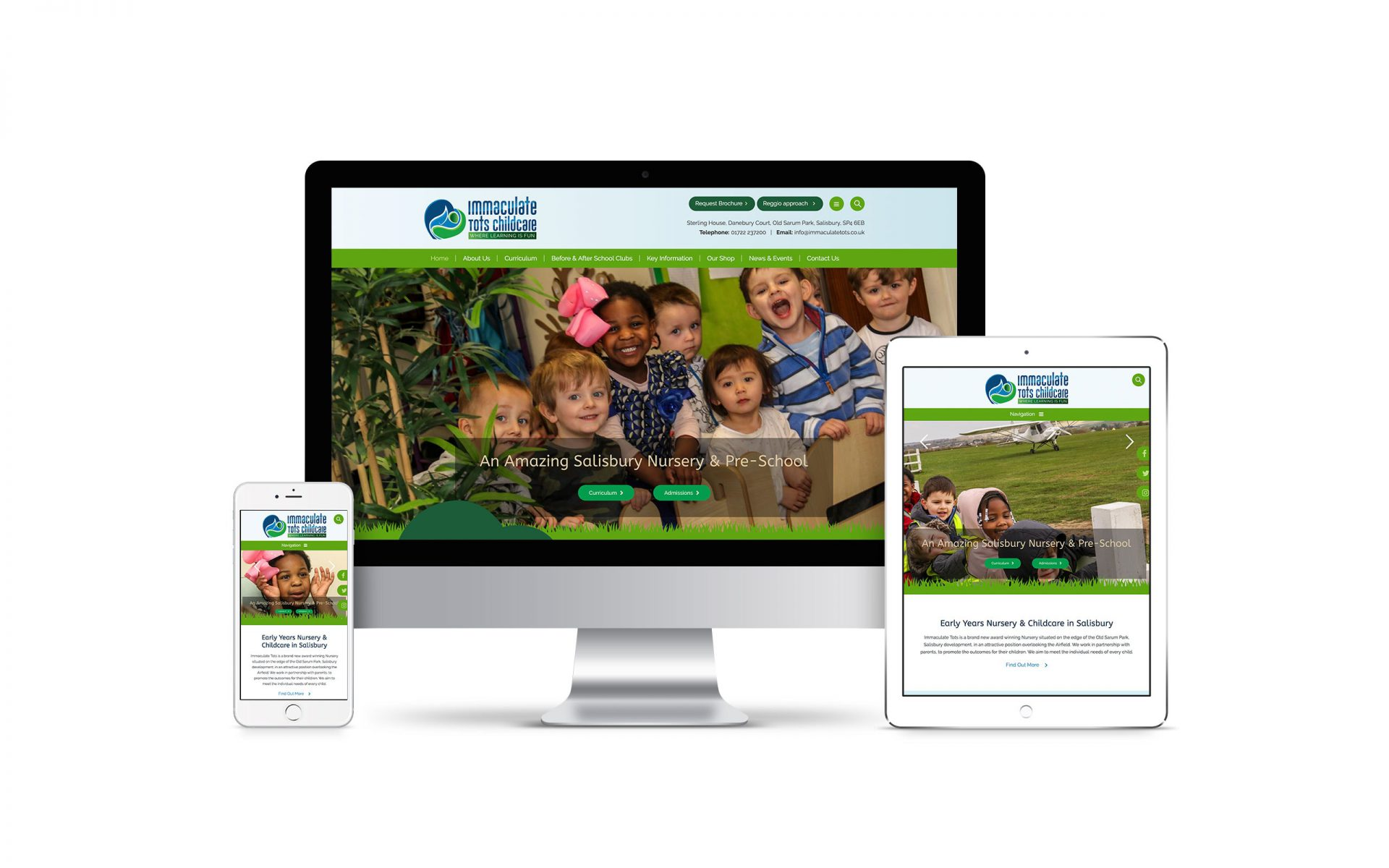 Website Design for Immaculate Tots Childcare