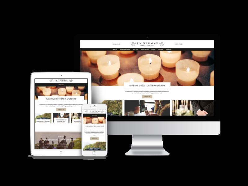 Website Design for IN Newman, Funeral Directors