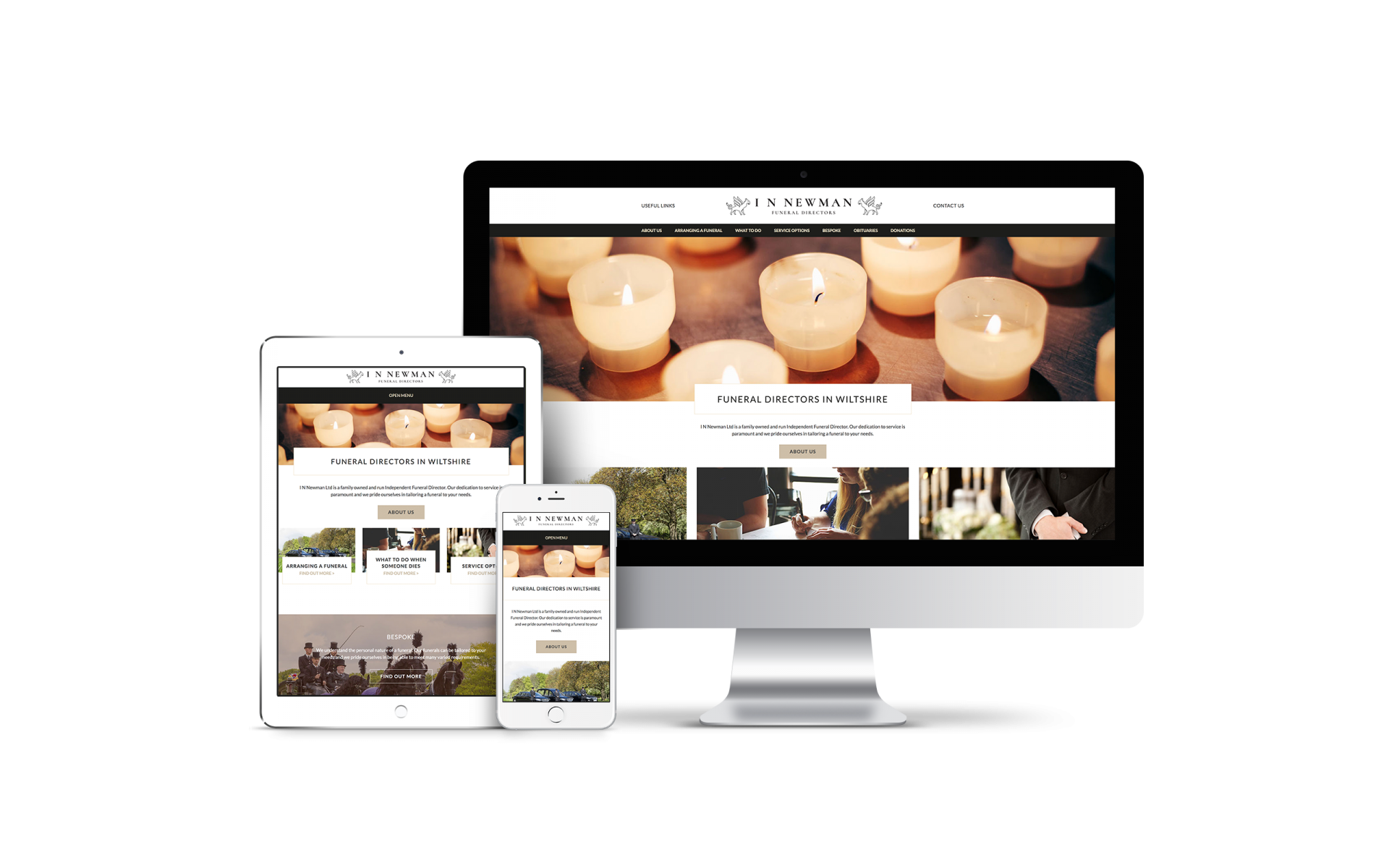 Website Design for IN Newman, Funeral Directors