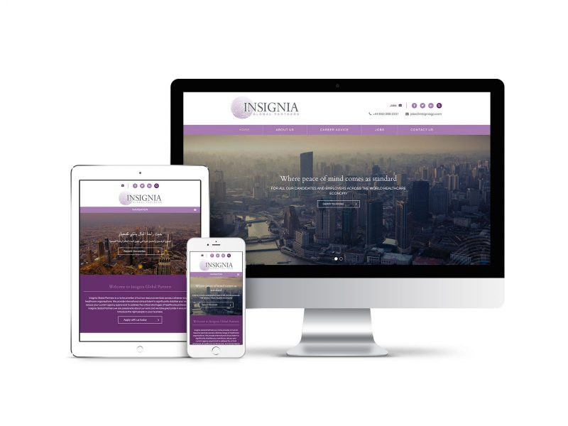 Website Design for Insignia Global Partners