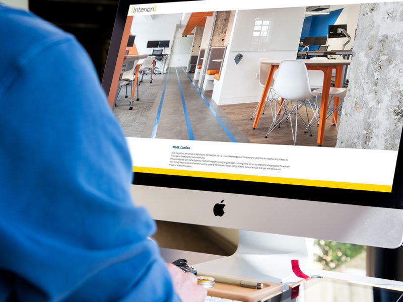 Responsive Website Design for Interion in Clerkenwell.