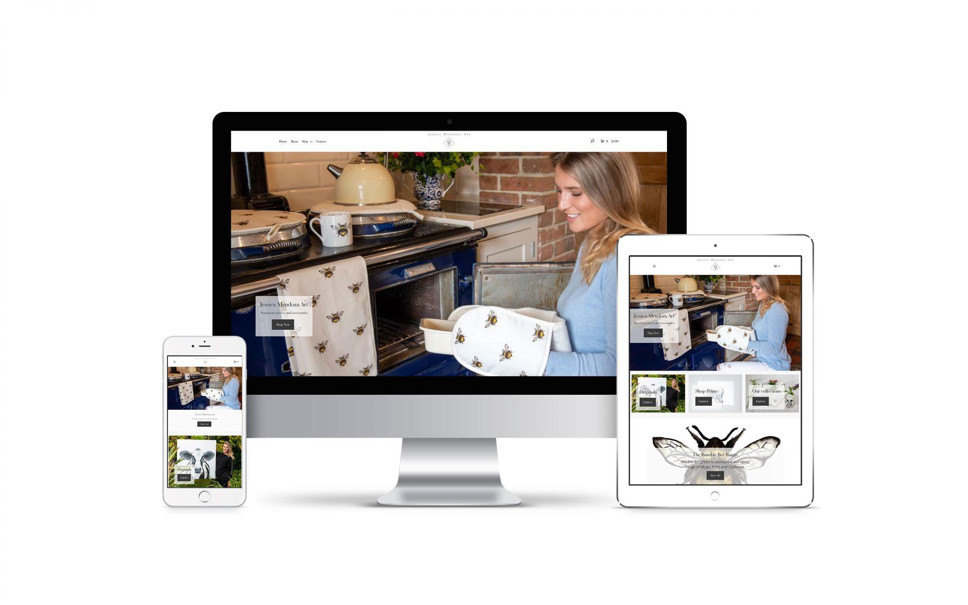 eCommerce website design for Jess Mendoza