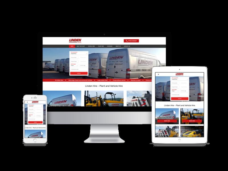 Website Design for Linden Hire