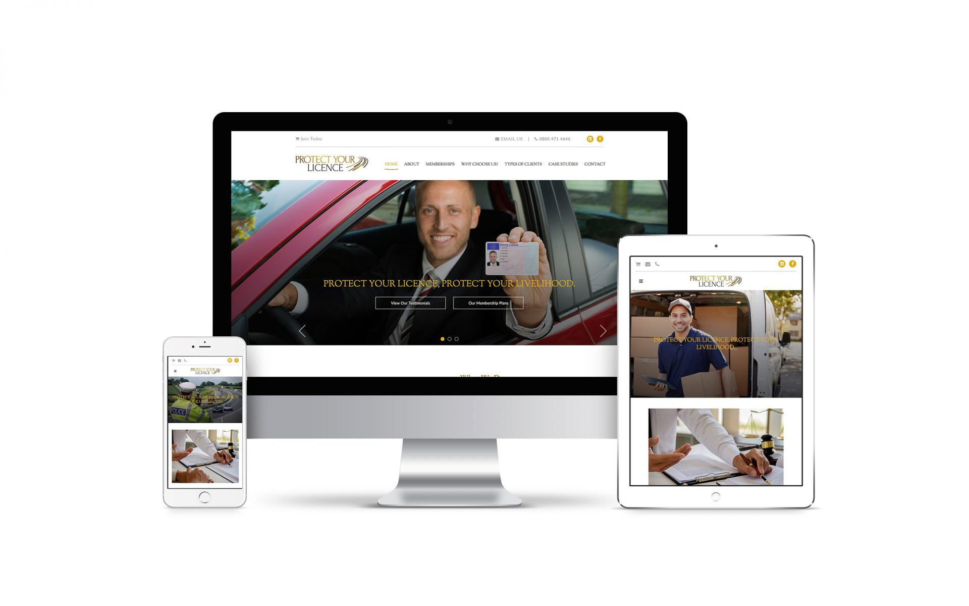Website Design for Protect Your Licence