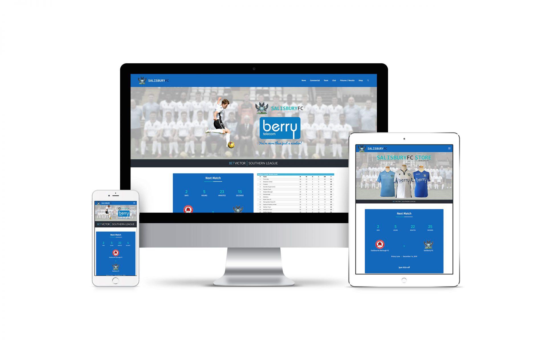 Website Design for Salisbury FC