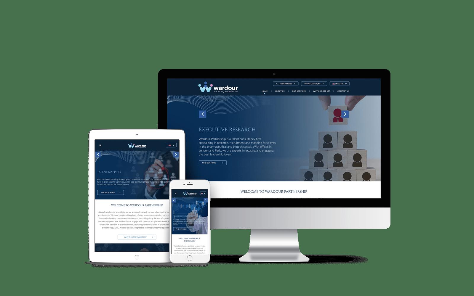 Website Design for Wardour Partnership