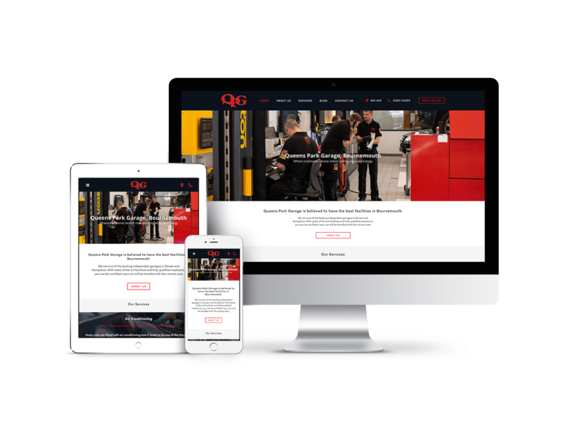 Website Design for Queens Park Garage