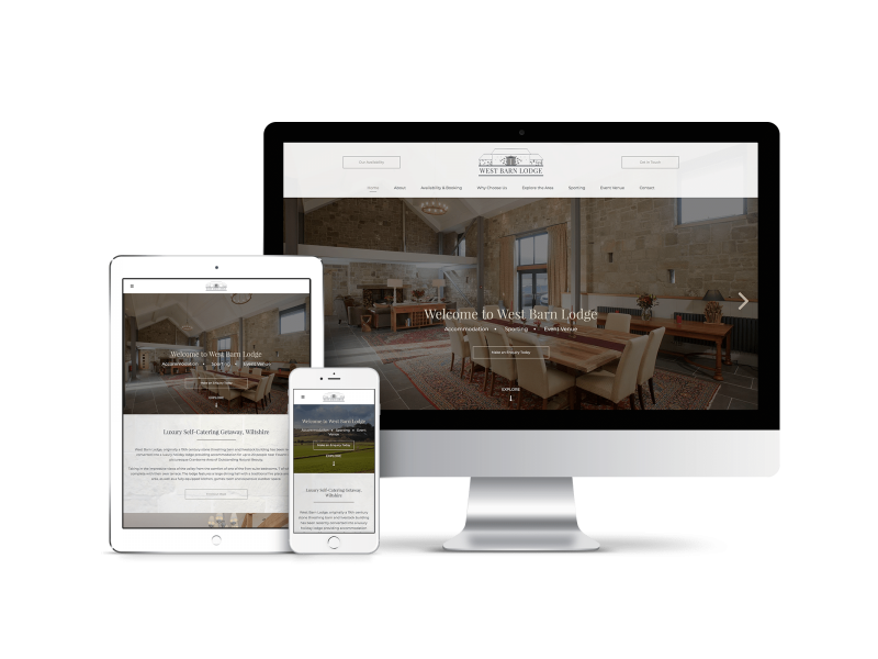 Website Design for West Barn Lodge
