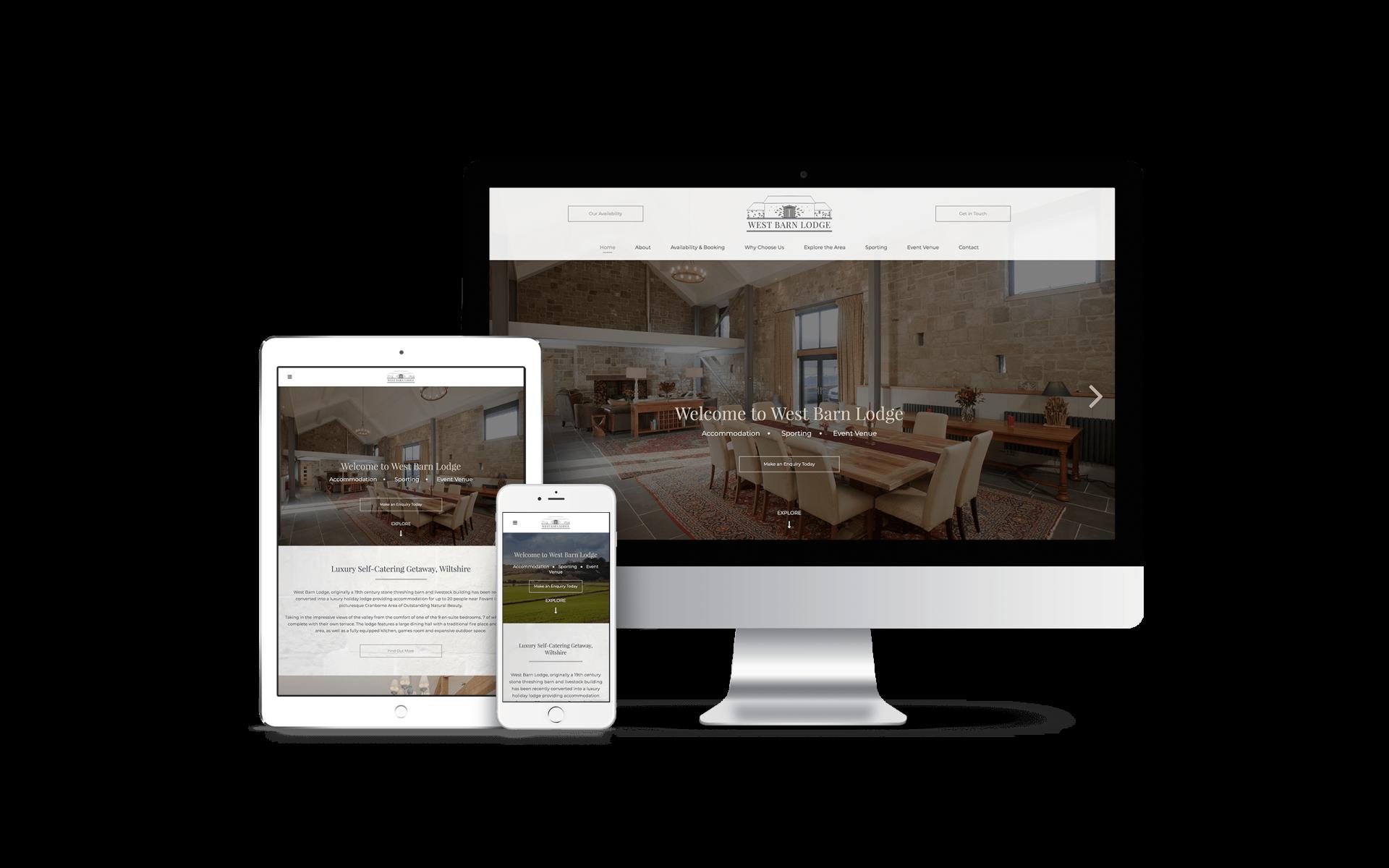 Website Design for West Barn Lodge