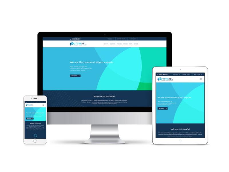 futuretel telecommunications website design