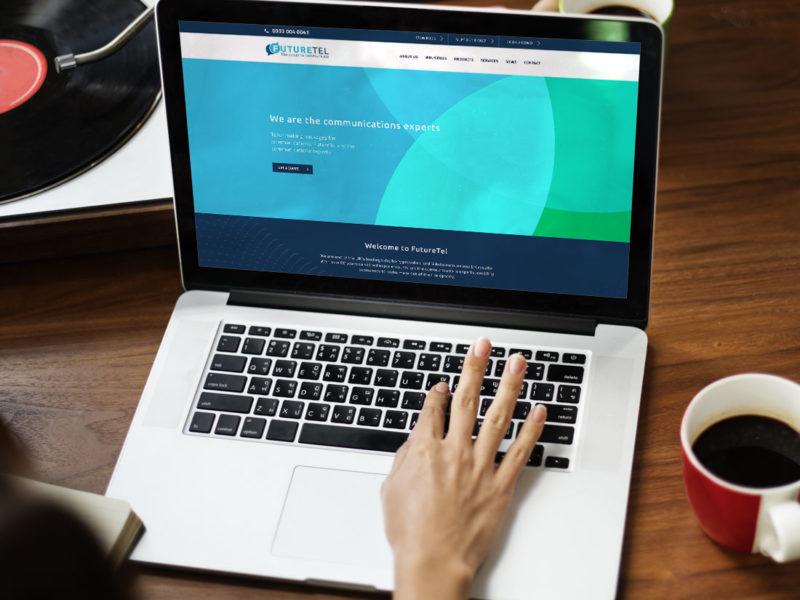 futuretel website design laptop