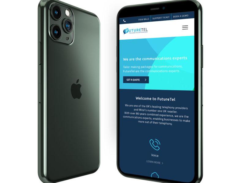 futuretel-website design mobile