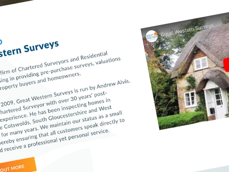 great western surveys website design
