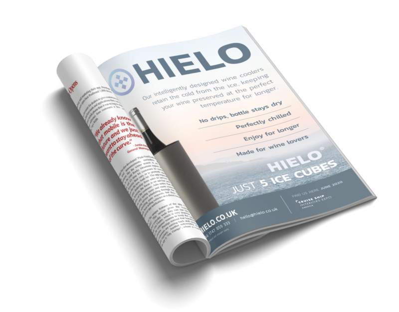 HIELO Magazine Advert Design