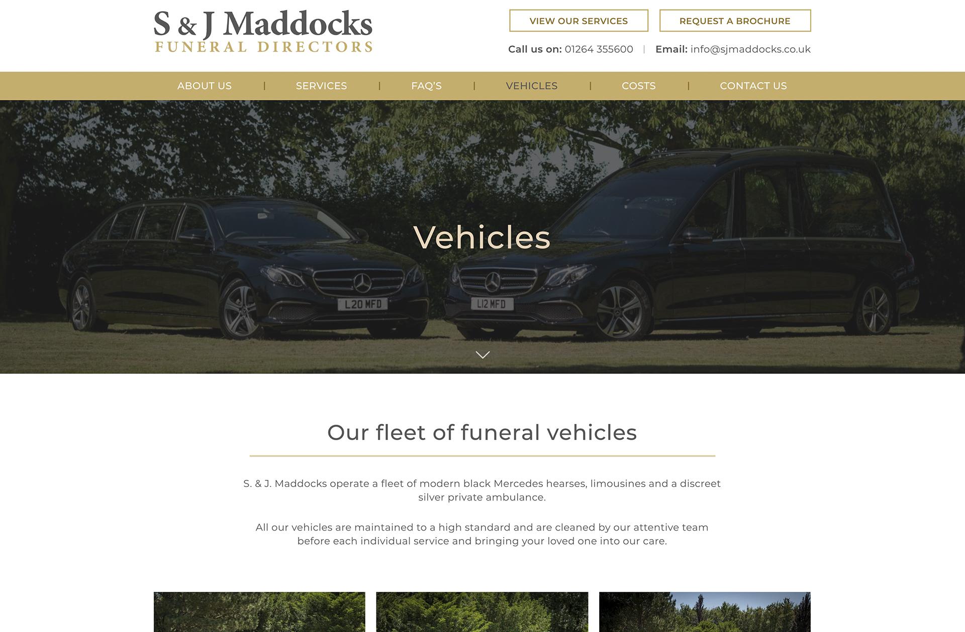 SJ Maddocks Website Design