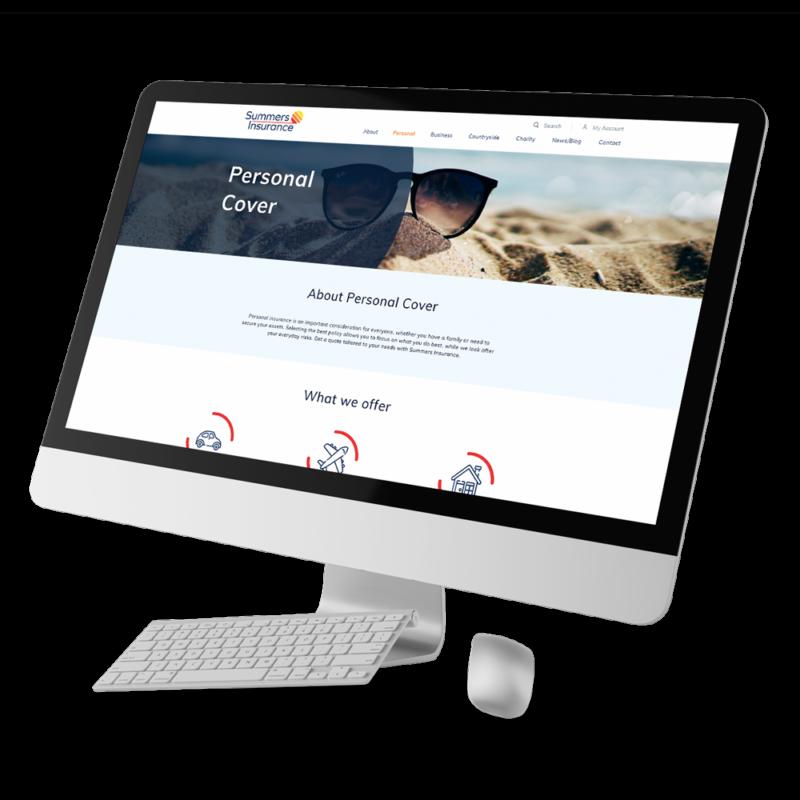 summers insurance website design mac