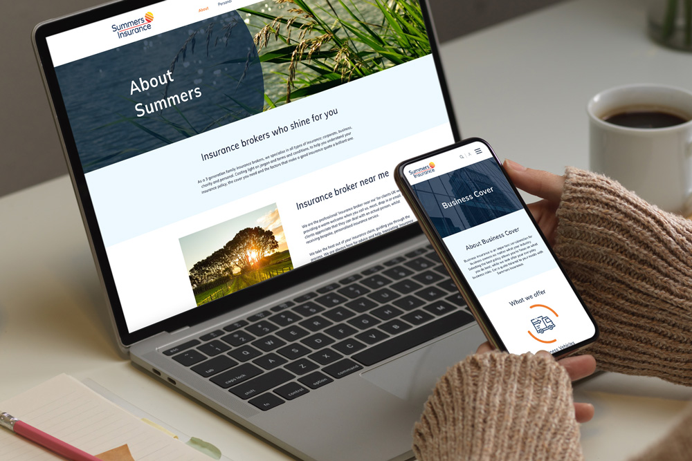 summers insurance website design